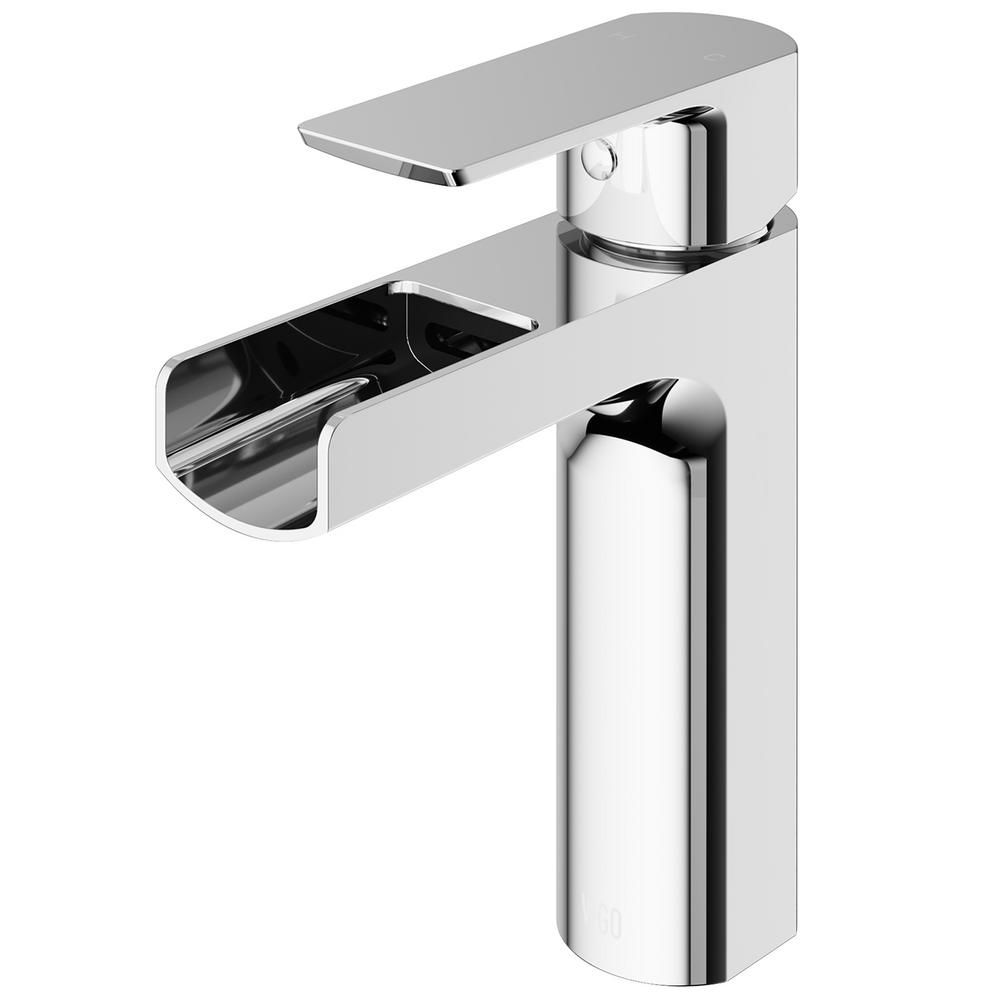 Vigo Ileana Single Hole Single Handle Bathroom Faucet In Chrome Vg01042ch The Home Depot Single Handle Bathroom Faucet Bathroom Faucets Single Hole Bathroom Faucet [ 1000 x 1000 Pixel ]