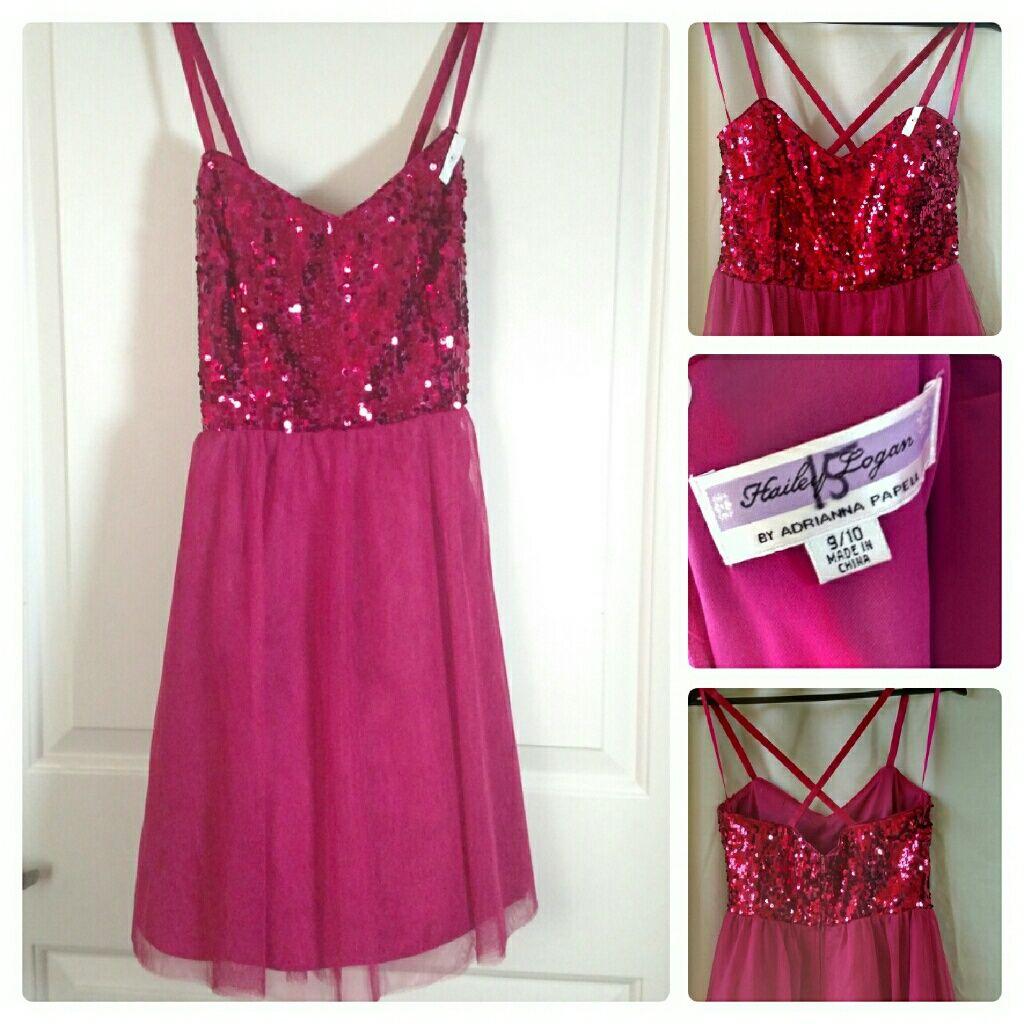 Hailey Logan By Adrianna Papeli Pink Prom Dress