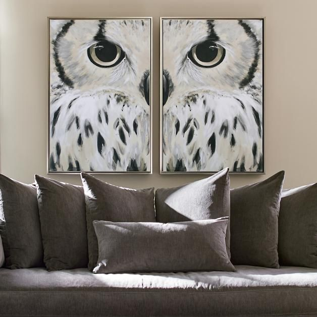 Good With Its Bold, Wintery Forest Creature Theme, Our Olsen Owl Wall Art Is A
