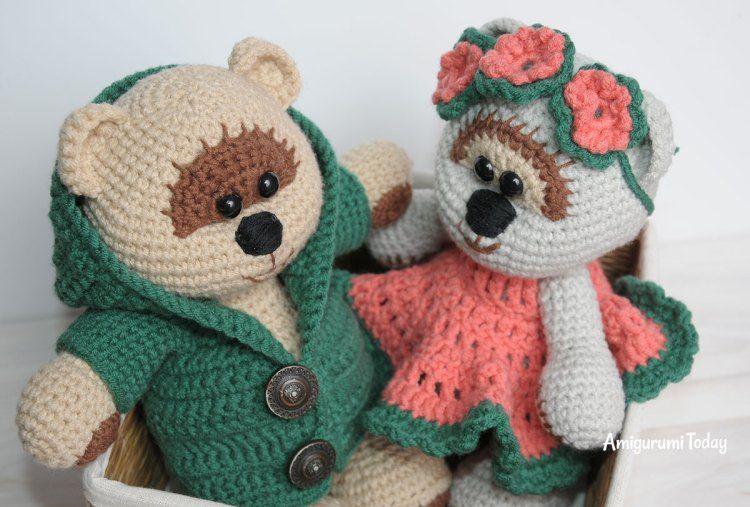 Amigurumi Crochet Patterns Teddy Bears : Honey teddy bears in love crochet pattern free crochet teddy