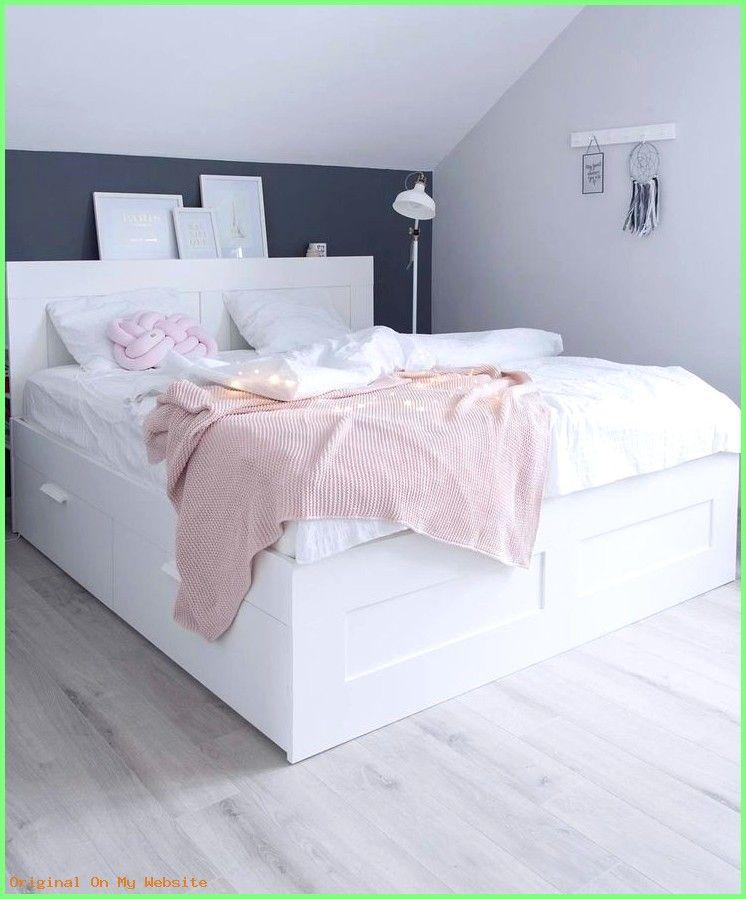 Schlafzimmer Ideen Tumblr Brimnes Bett Mit Kopfteil Im Dachgeschoss Bedroomideascolors B Brimnes Bett Schlafzimmer Im Skandinavischen Stil Zimmer