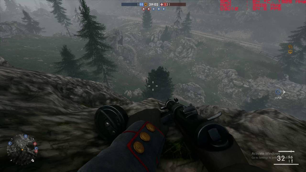 Battlefield 1 DX12 WQHD Monte Grappa Assault Nvidia GTX 970