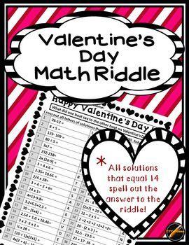 Valentine\'s Day Math Riddle