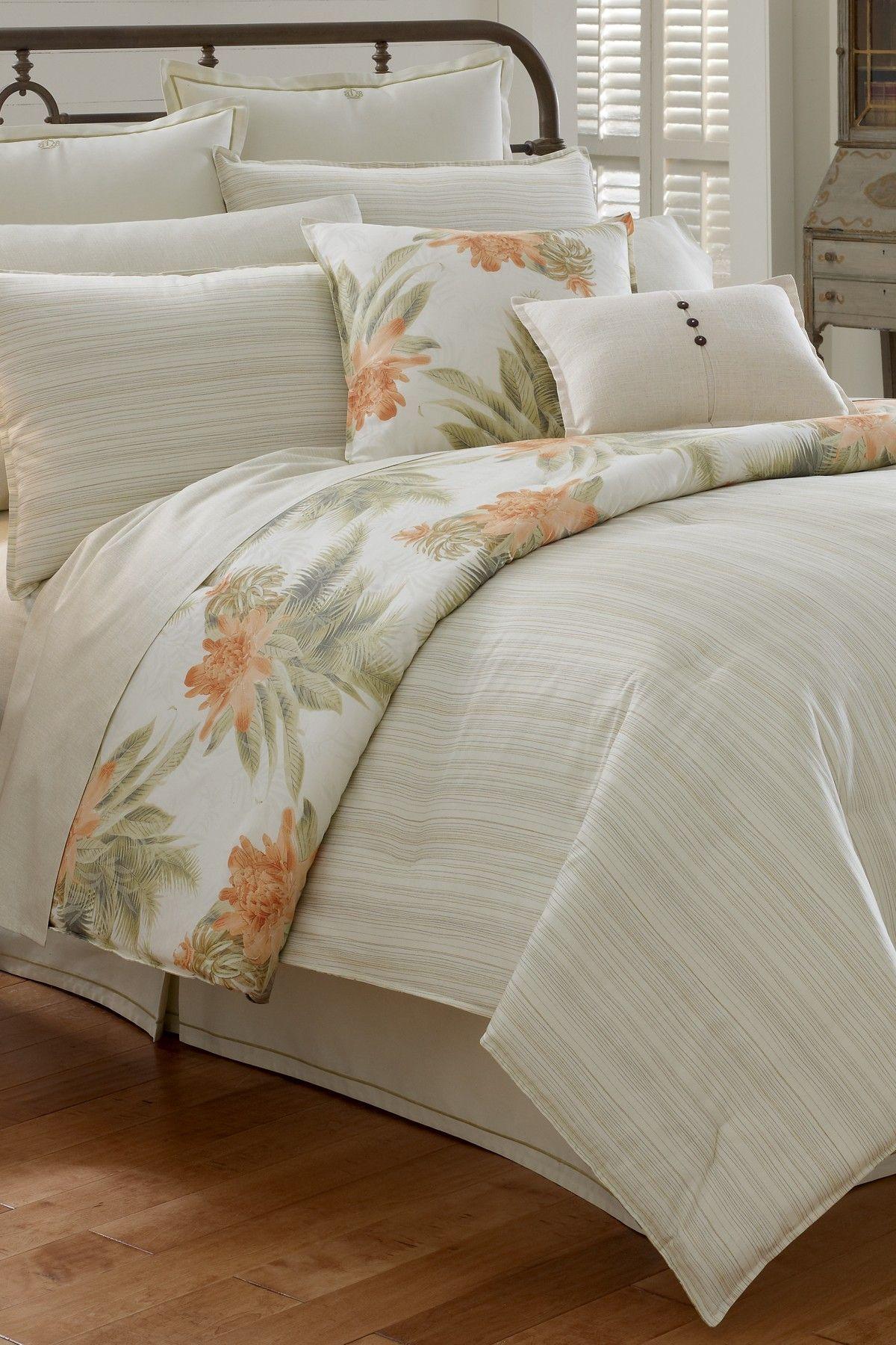 Tommy Bahama Bedding Abacos Island Queen Comforter Set Bisque
