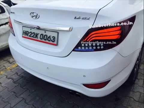 Hyundai Verna Fluidic Bmw Style Led Tail Lamps | car