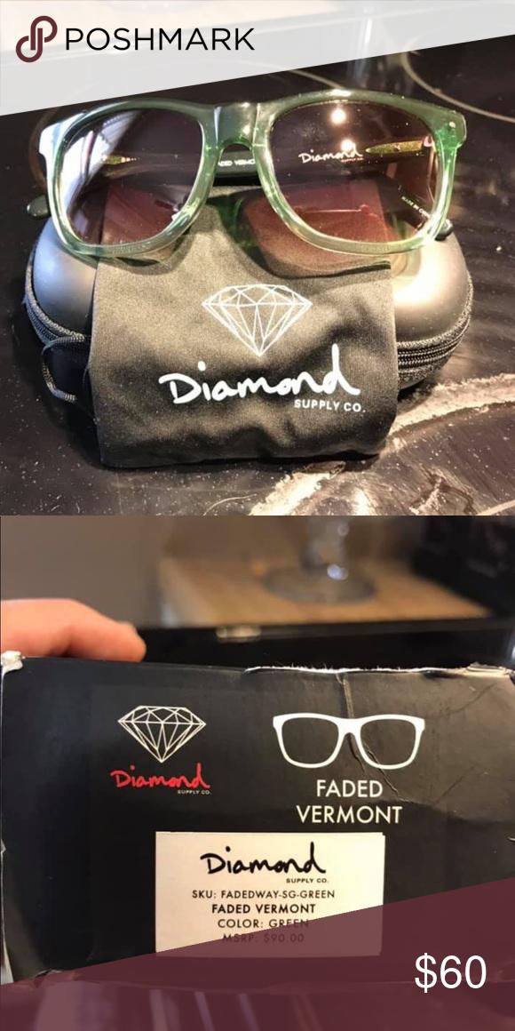 Diamond Supply Co Vermont Army Green Sunglasses