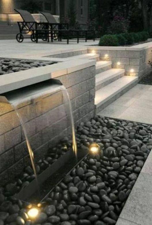 Modernes Brunnen-Design: 25+ faszinierende Ideen zur Verschönerung Ihres Hinterhofs #modernlandscapedesign