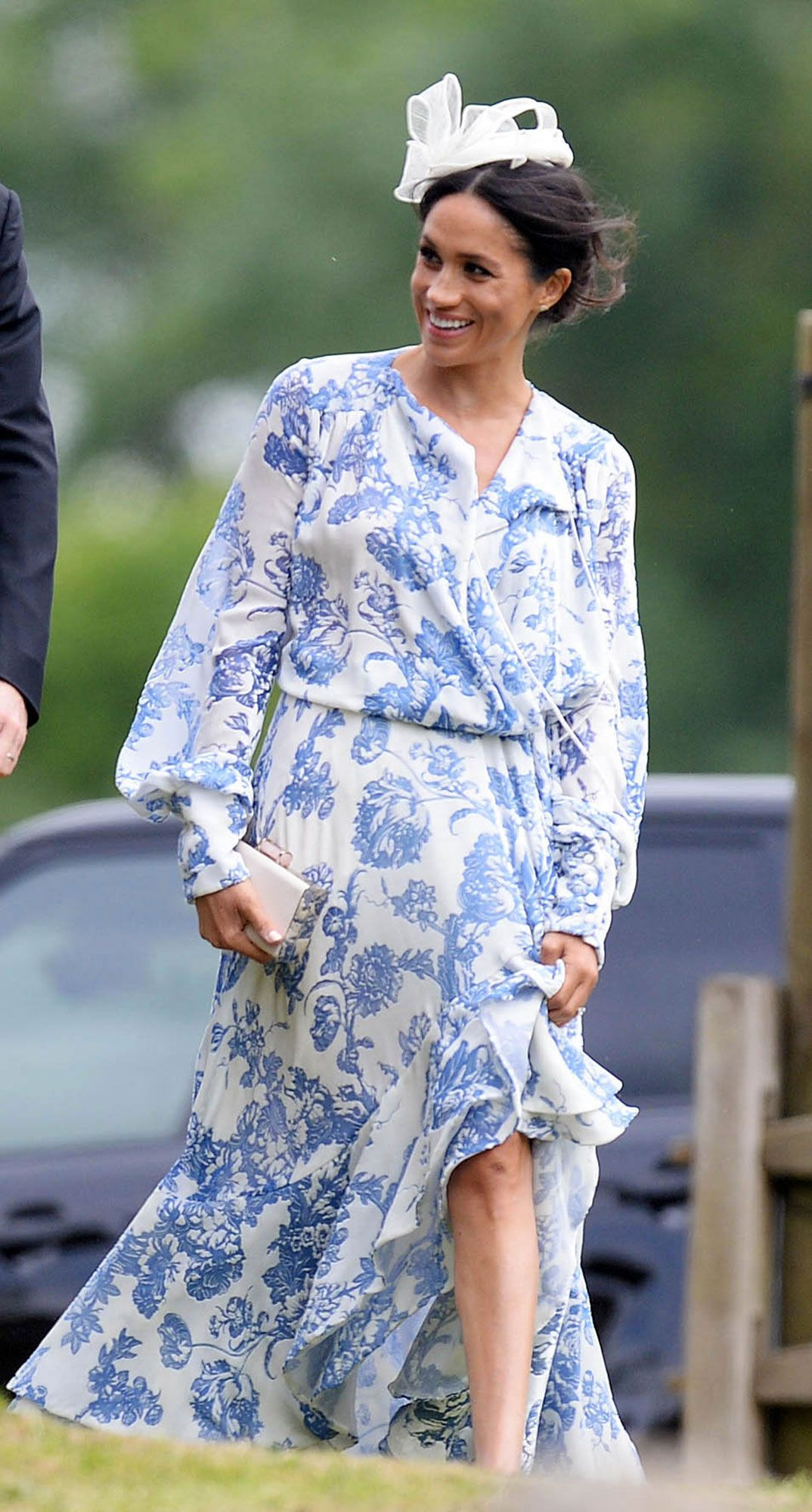 Meghan Markle Goes Floral   Coordinates with Prince Harry at Wedding of  Princess Diana s Niece 7a4e08d09cdc