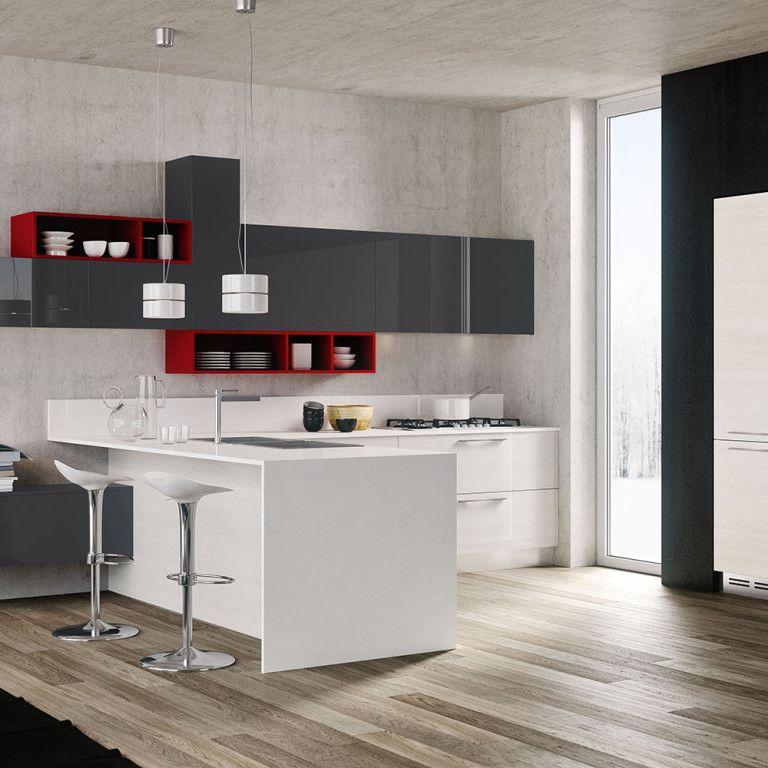 Cucina Lineare Moderna Nel Nostro Negozio A Padova Limena Potrai Trovare Una Vasta Scelta Di Cucine Mo Progetti Di Cucine Cucine Grigio Bianco Cucine Moderne