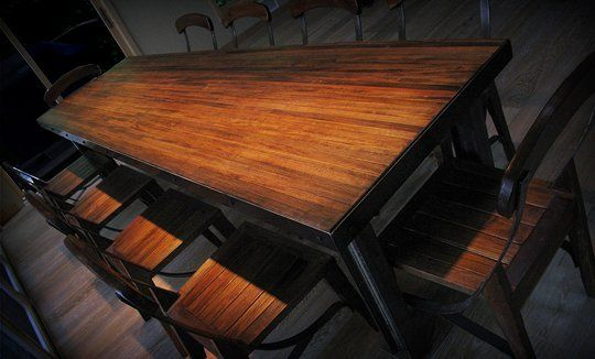 Repurposed Bowling Alley Dining Room Table Wood Dining Room