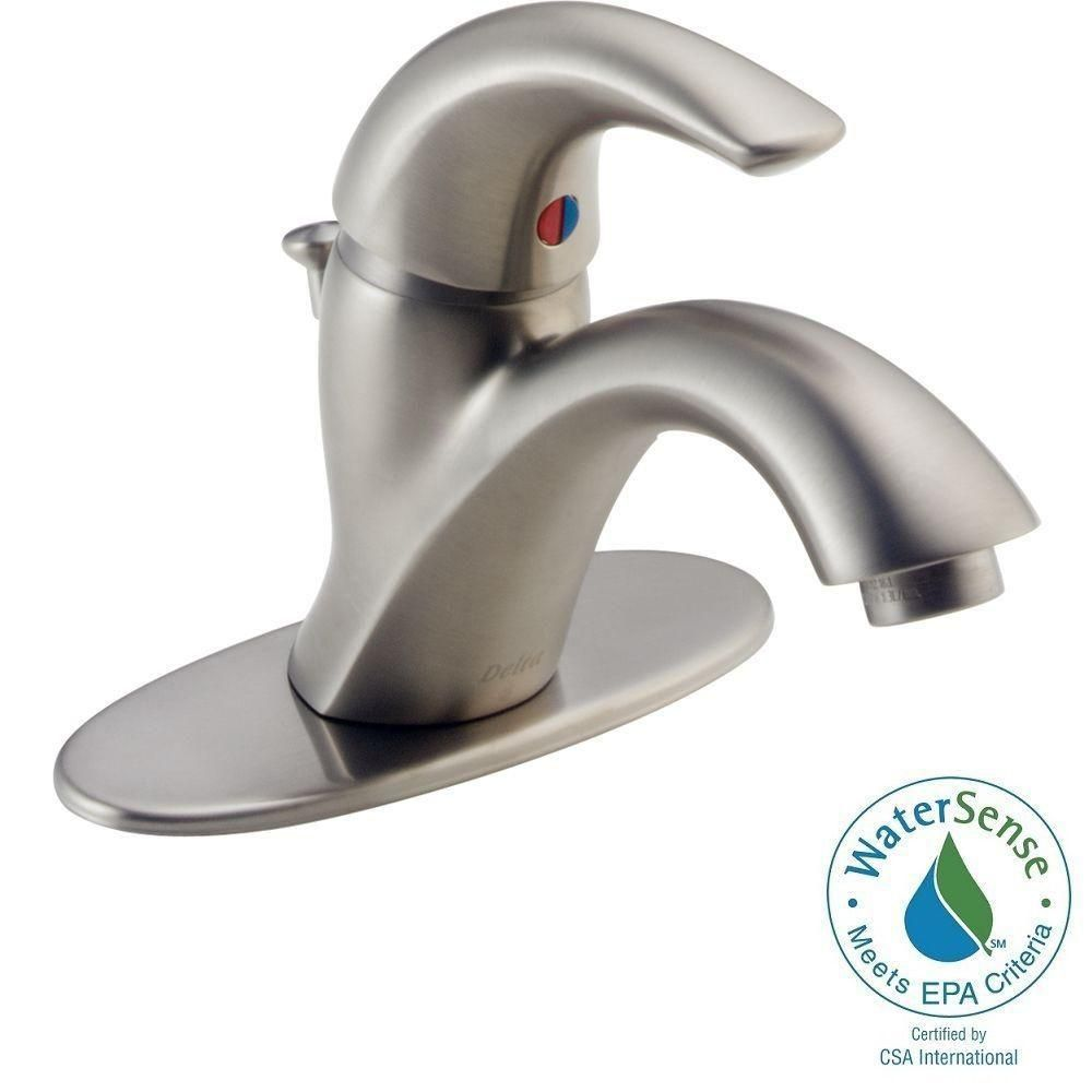 Delta Classic Single Hole Single Handle Bathroom Faucet In