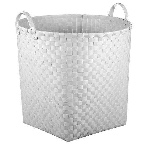 Woven Floor Bin Round White - Pillowfort™ : Target