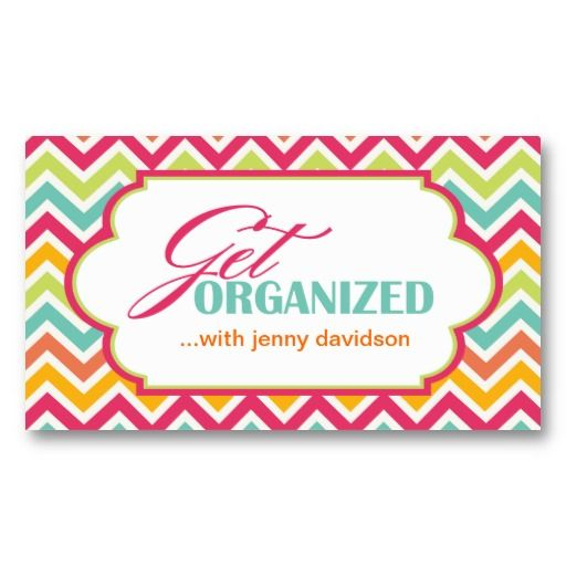 Professional Organizer Business Cards Zazzle Com With Images