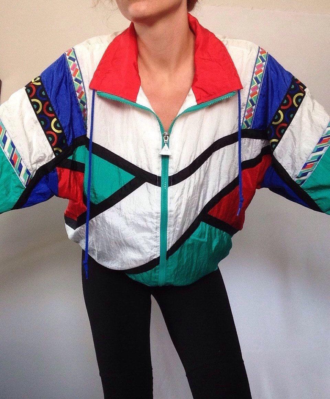 Vintage 90s Rain Jacket Slip Jacket M L Windbreaker Rodeo