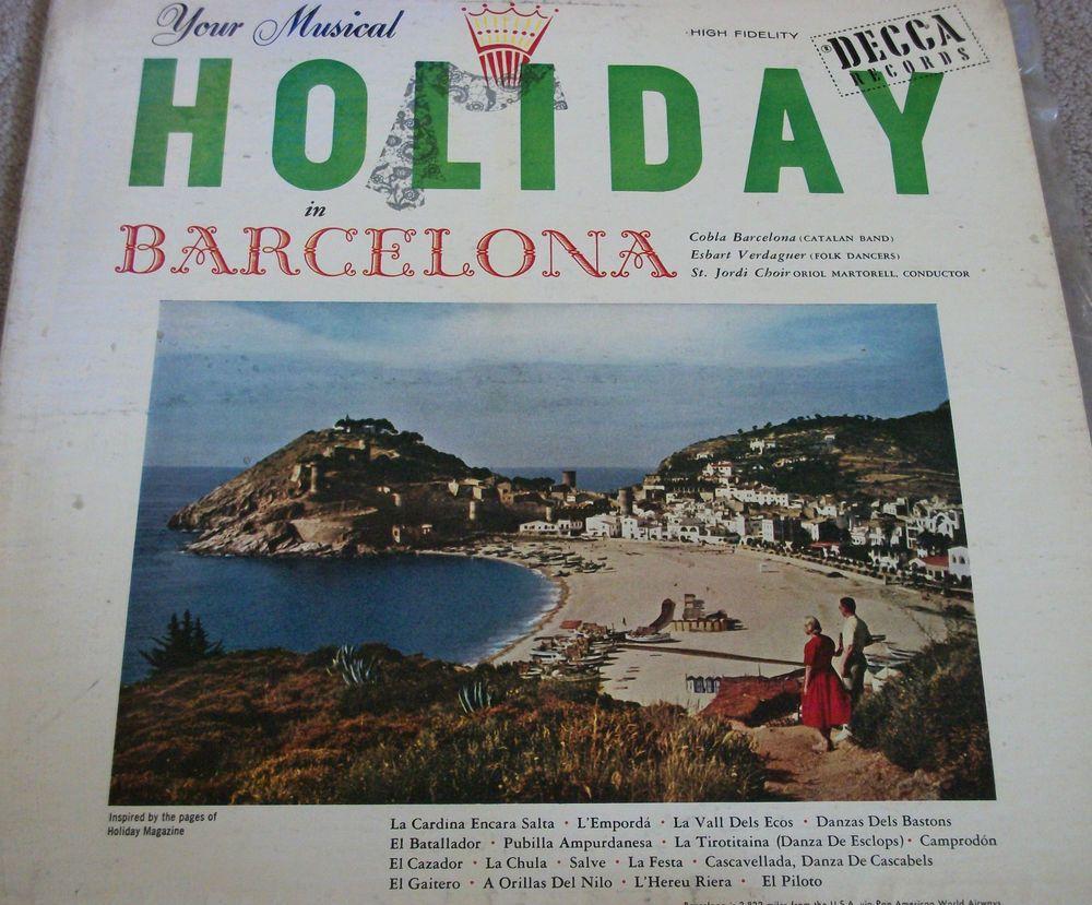 "Your Musical Holiday In Barcelona / Cobla Barcelona / 12"" Vinyl LP Record / Decca 8224 #OriolMartorell #Album"