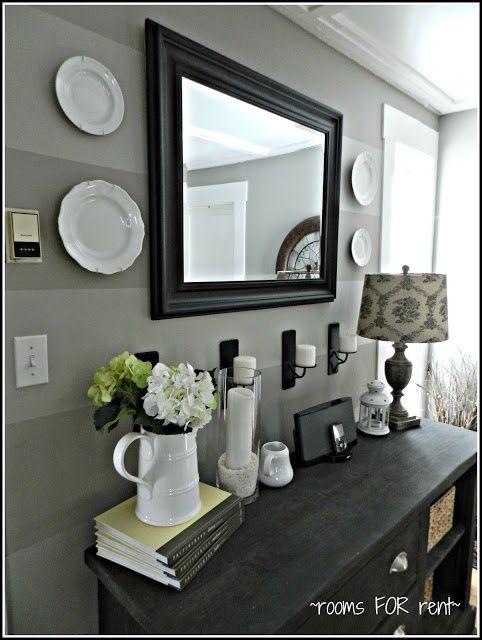 Black Framed Mirror For Home Entry Decoration