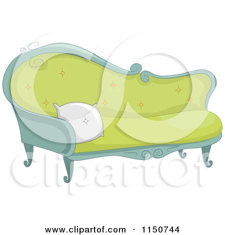 fancy couch drawing. Cartoon Of A Fancy Green Sofa - Royalty Free Vector Clipart By BNP . Couch Drawing F