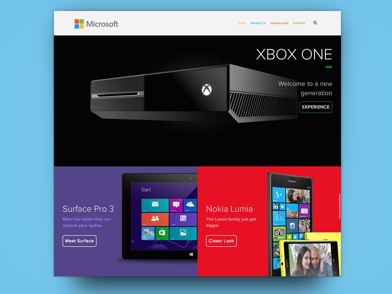 Redesigning Microsoft Online Microsoft Redesign Titanfall