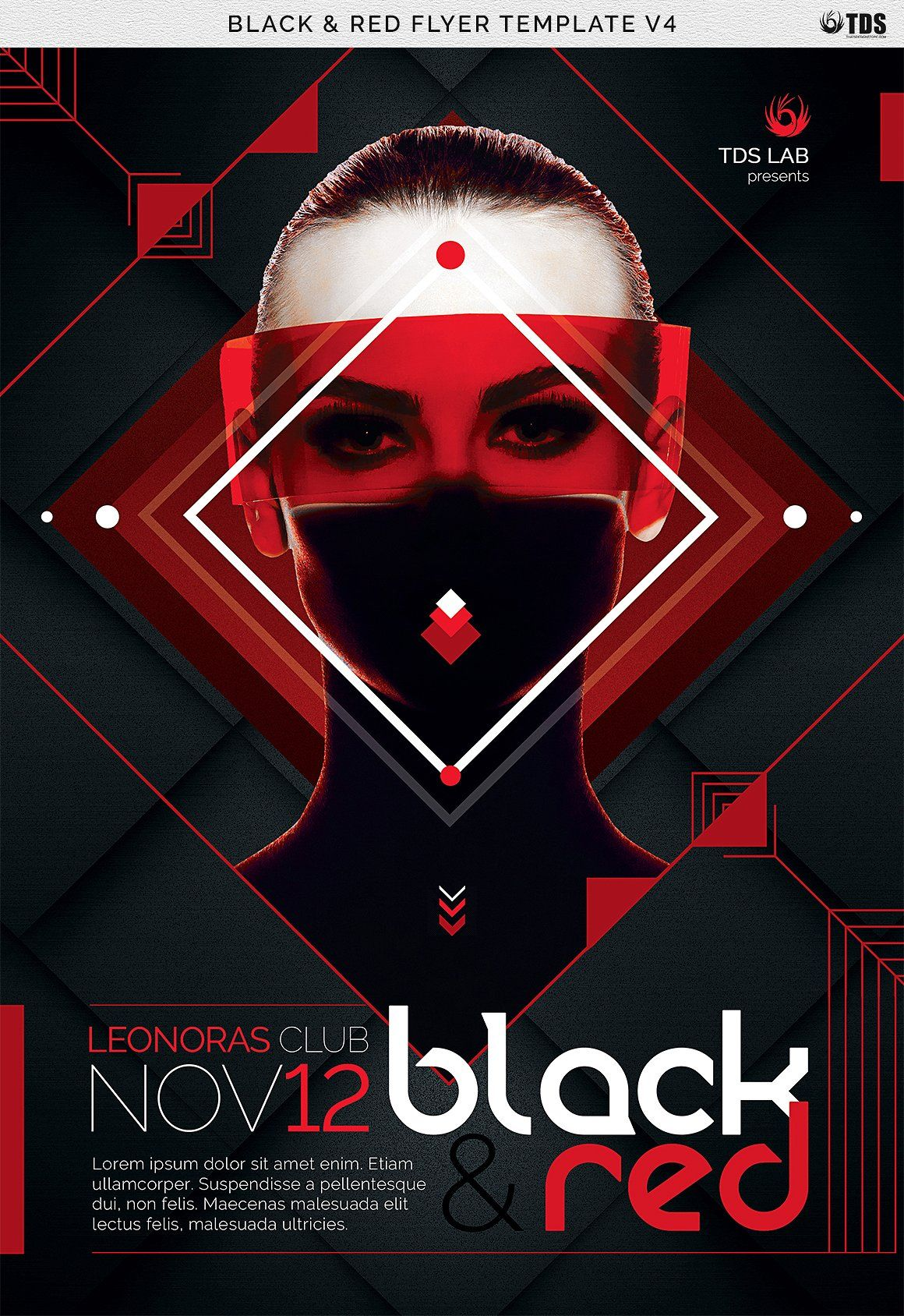 Black And Red Flyer Template V4 Black And Red Flyer Flyer Template