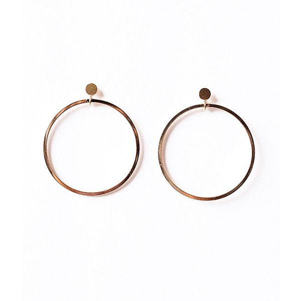 Vintage Style Gold Hoop Dangle Post Earrings 133 330 Idr Liked On Polyvore Featuring
