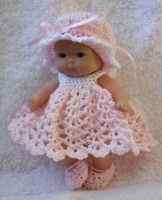Häkelanl... für Berenguer 5 cm Baby-Puppe   puppenstube   Pinterest ...