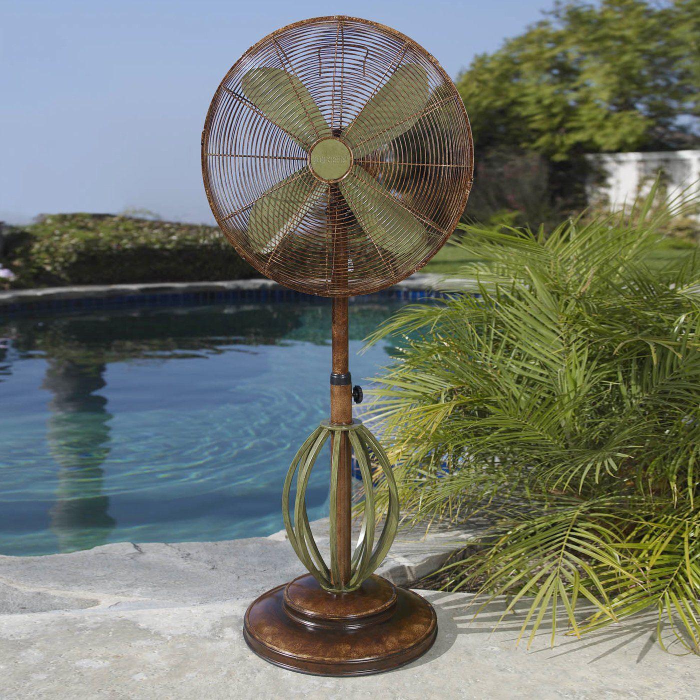 Deco Breeze Dbf0622 Playa Standing Portable Fan Green Atg Stores Design