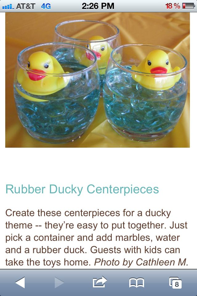 We Love These Rubber Duck Table Decorations! You Can Create These Using Our  12cm Bowl