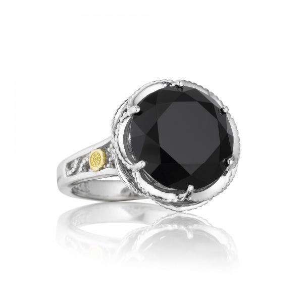 ebed2a492 Tacori 18K Yellow Gold and Sterling Silver Round Black Onyx Cocktail Ring,  from the
