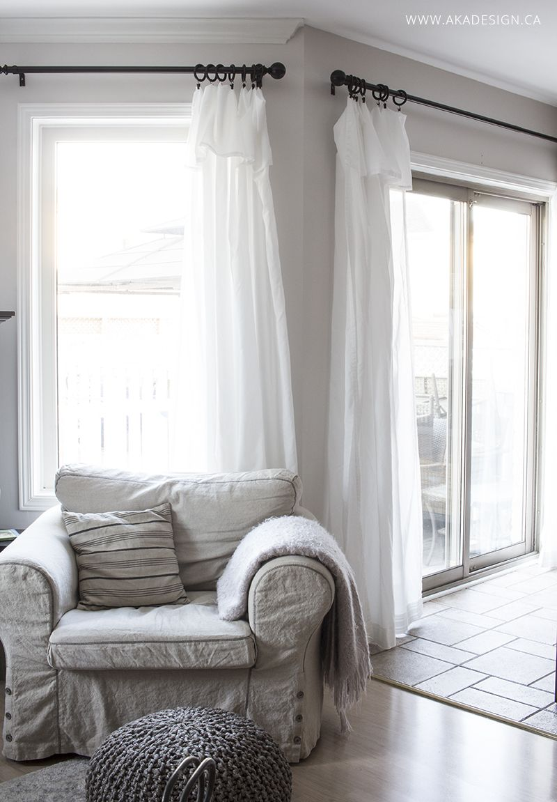 ikea-curtain-hack (With images) | Curtains living room ... on Farmhouse Living Room Curtain Ideas  id=95689
