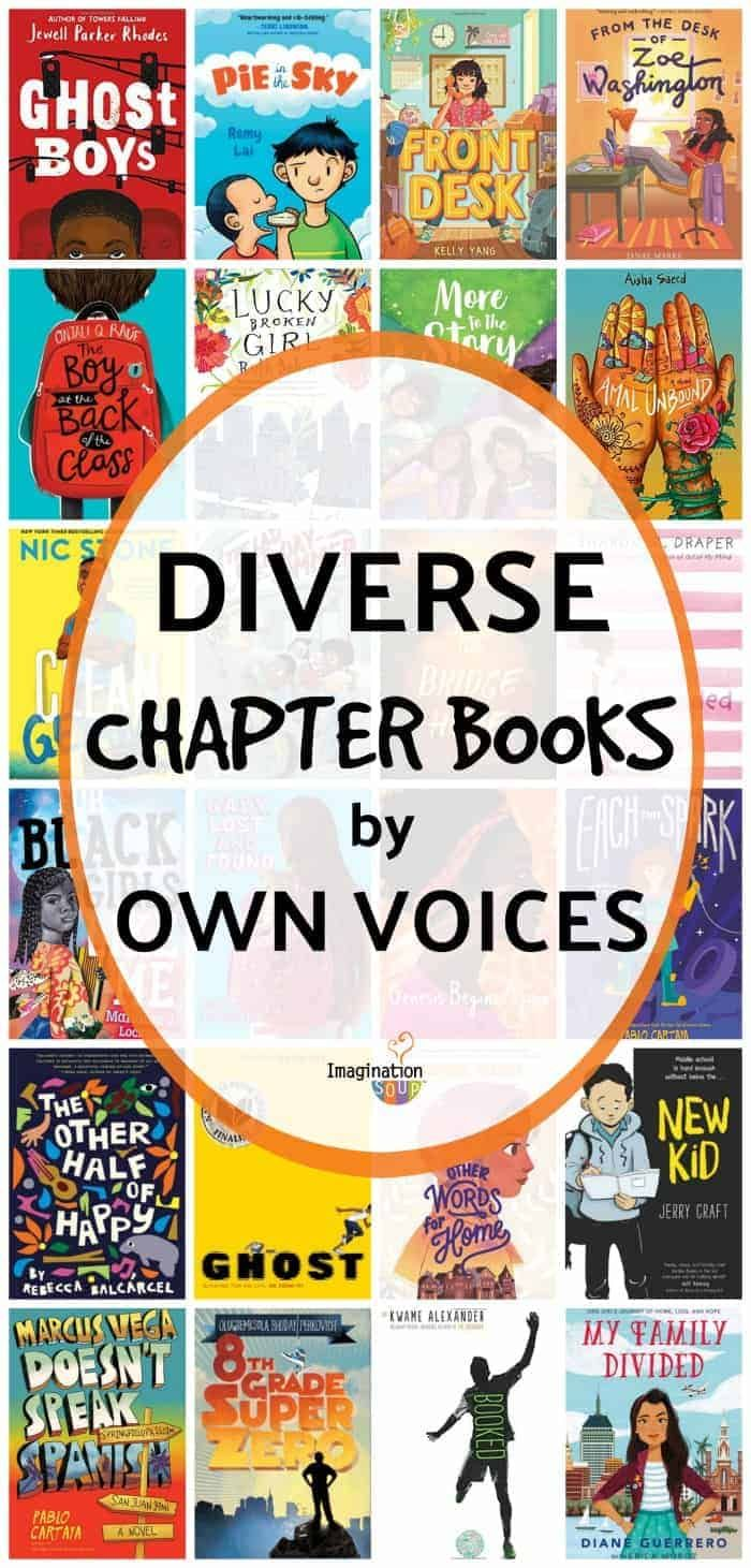 Excellent diverse chapter books for ages 9 - 12 by #OwnVoices #childrensbooks #kids #imaginationsoup