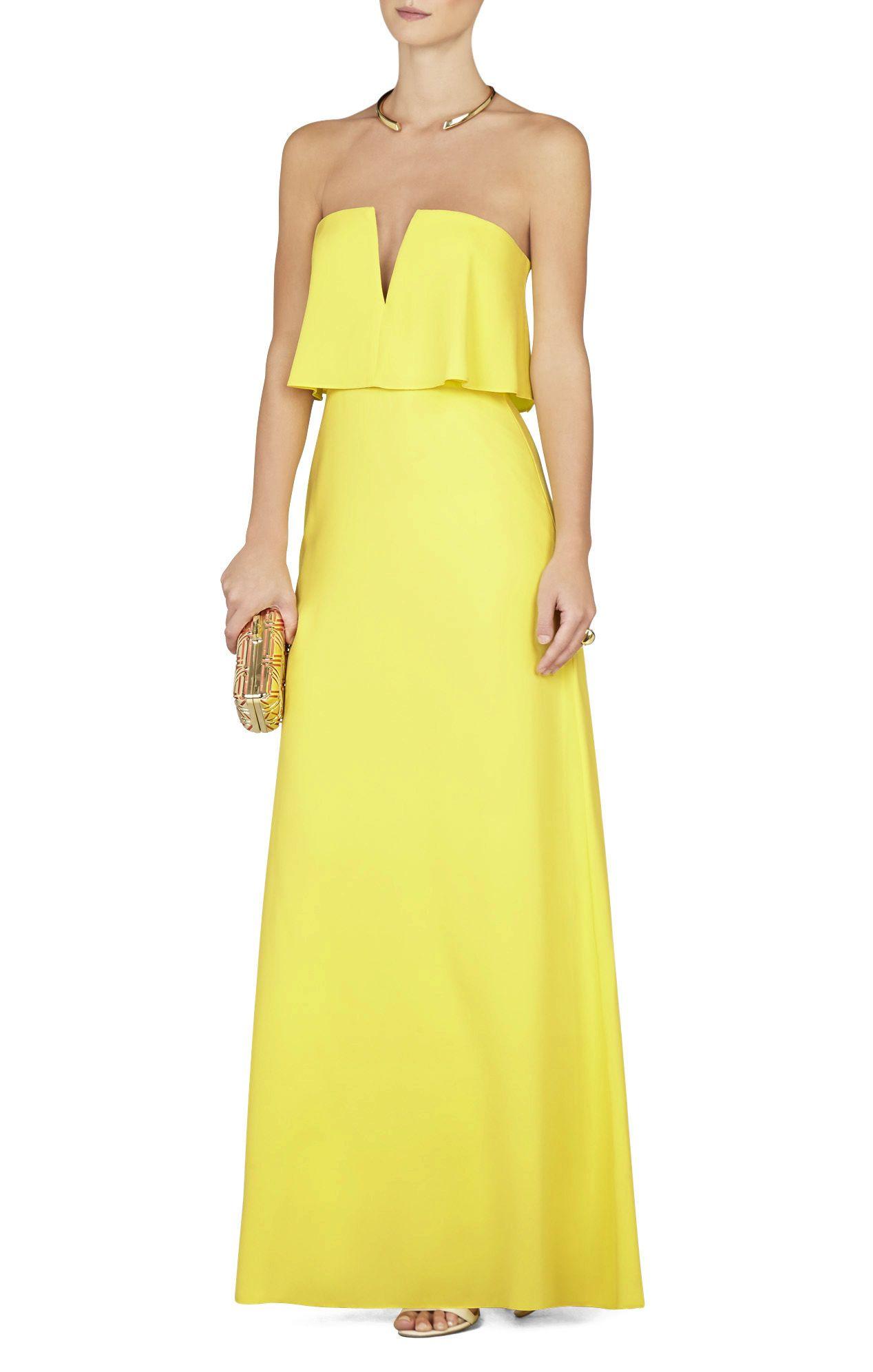 Bcbgmaxazria Alyse Strapless Overlay Gown Bcbg
