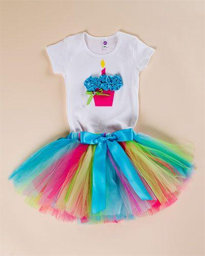 Taddle Tell \'Birthday\' Hot Pink Tutu & Cupcake Tee Set (XXS-L ...