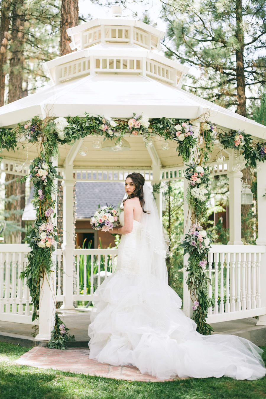 Whimsical + Elegant Tea Party Wedding. Gazebo Wedding DecorationsWedding ...