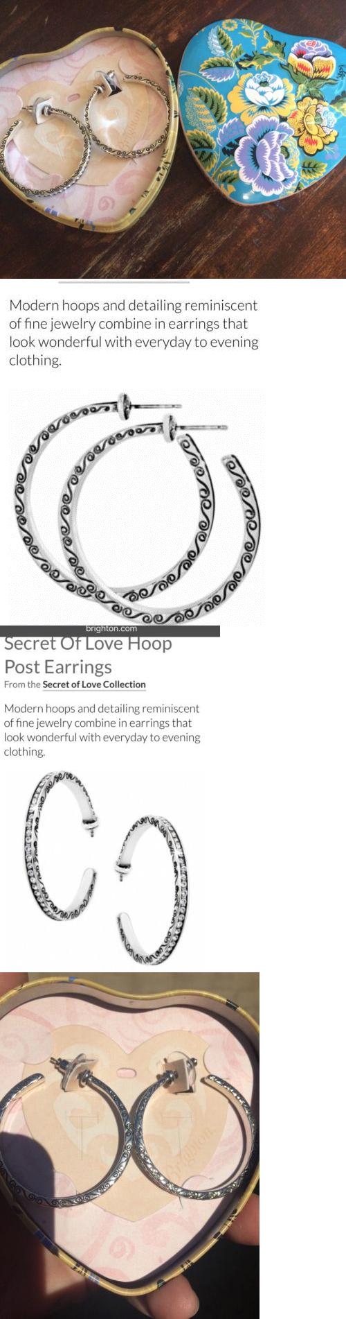 Earrings 110645: Brighton Silver And Swarovski Crystal Hoop Earrings > Buy  It Now Only