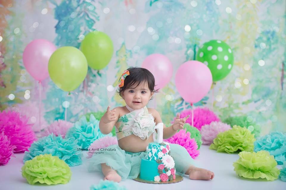Cake Smash Photography Shipra Amit Chhabra First Birthday