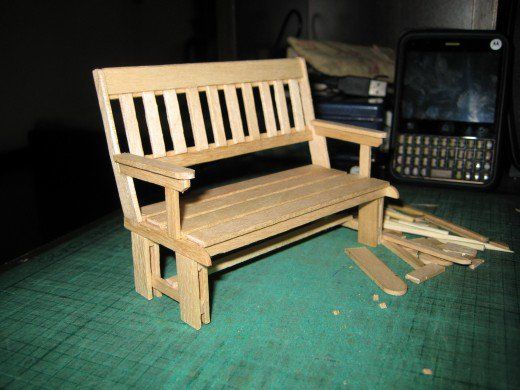 Marvelous My Hobby Craft Miniature Park Benches For Dolls Wooden Bralicious Painted Fabric Chair Ideas Braliciousco