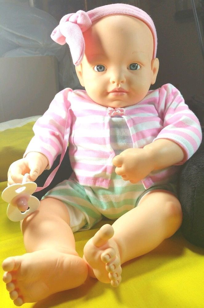 """Goldberger Doll 20"""" Life-Size Baby Girl PVC Airbag Body Polyester Fill    #DollswithClothingAccessories"""