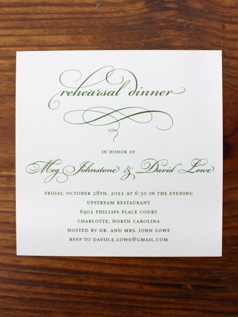 creative wording for rehearsal dinner invitations%0A Floral and Formal Wedding Rehearsal Dinner Invitations  emDOTzee Designs