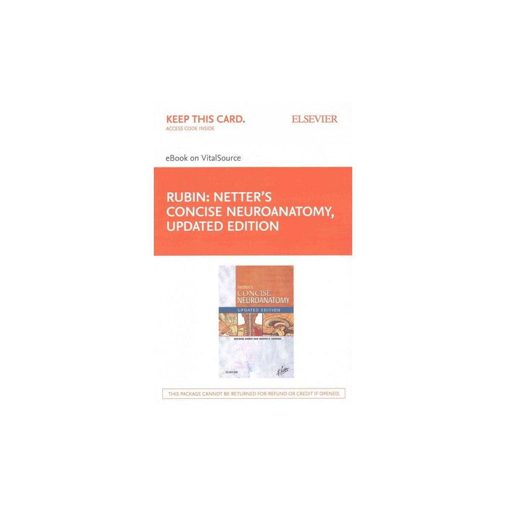 Netter S Concise Neuroanatomy Ebook On Vitalsource Access Code