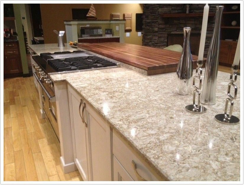 New Quay Quartz By Cambria Is Made Up Of A Cream Base With Brown
