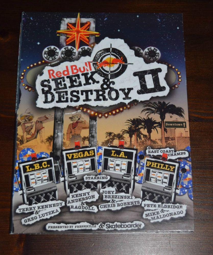Red Bull Seek & Destroy 2 DVD Stunts & Pranks Skateborder LBC Vegas LA Philly
