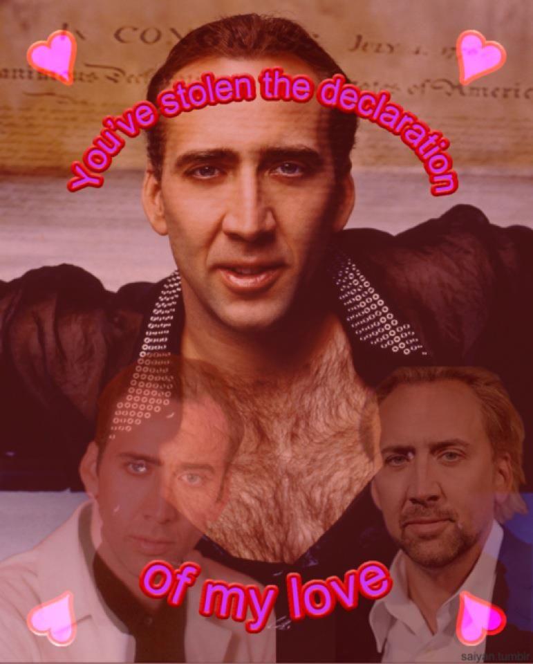 Nicholas Cage valentine.. disgusting. Yet so hilarious!!  b1618e2197fff
