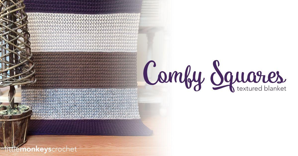 Comfy Squares Textured Blanket Pinterest Blanket Crochet Comfy