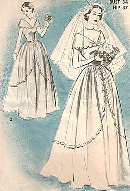 wedding dress pattern | VINTAGE PATTERN ART | Pinterest | Wedding ...