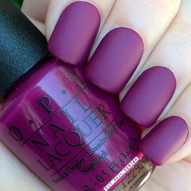 Matte Purple by Opi <3 | Diseño de uñas | Pinterest | Esmalte ...