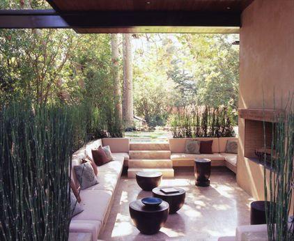 sunken patio conversation pit     modern patio by Studio William Hefner