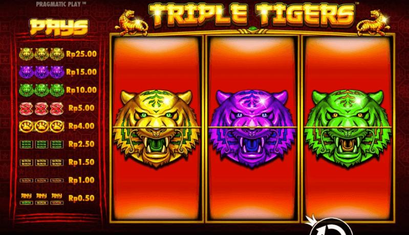 9KING PPASIA Slot Game Triple Tigers™ *New Member