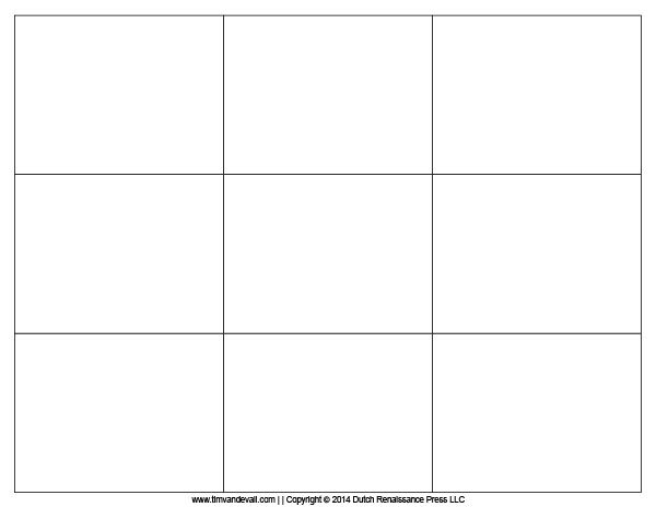 Charming Blank Flash Card Template