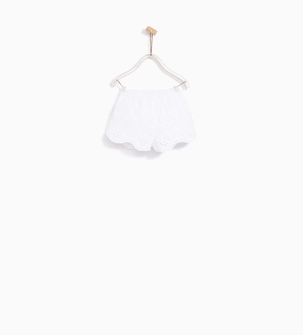 a7416582 SKIRT WITH EMBROIDERED RUFFLES-SKIRTS AND SHORTS-BABY GIRL | 3 ...