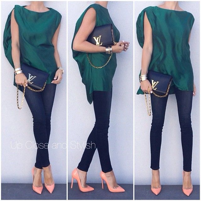 Up Close and Stylish @upcloseandstylish Instagram photos | Webstagram Marni top, JBrand Maria high waist skinny jeans, Louboutin Pigalle in color mango, Louis Vuitton Louise bag